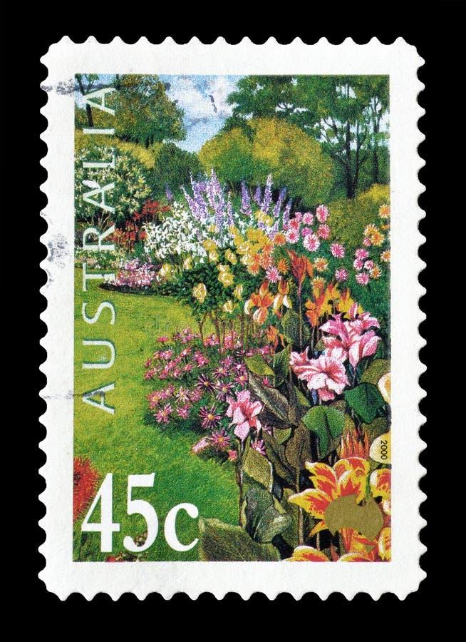 Selo postal cancelado impresso por Austr?lia fotos de stock