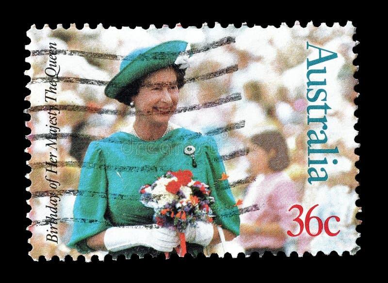 Selo postal cancelado impresso por Austr?lia fotos de stock royalty free