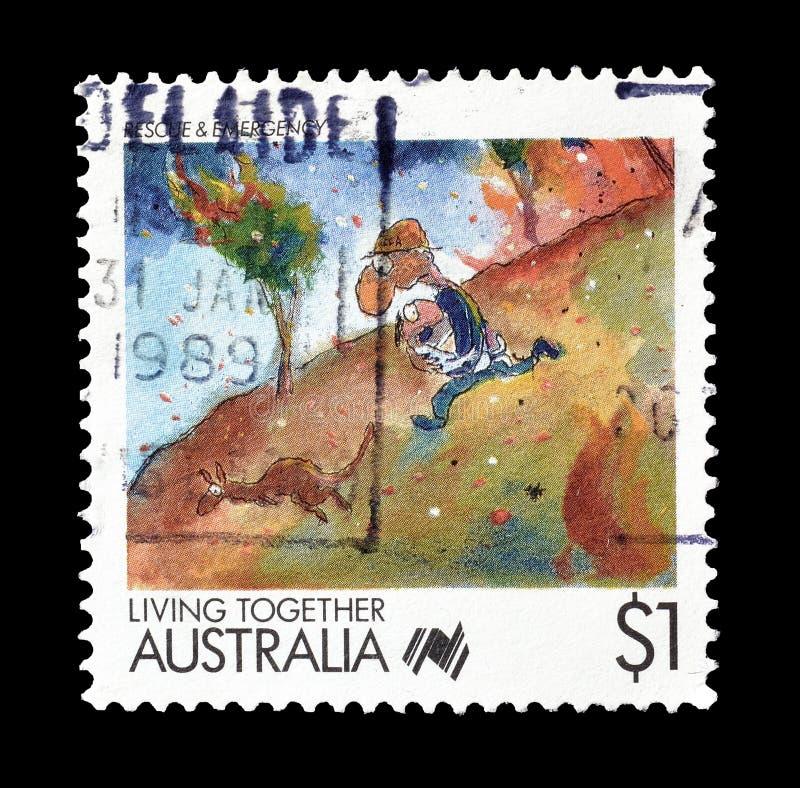 Selo postal cancelado impresso por Austr?lia imagens de stock royalty free