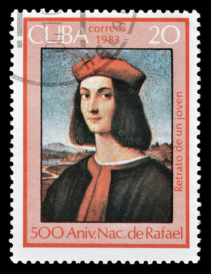 Selo postal cancelado impresso por Cuba imagem de stock royalty free