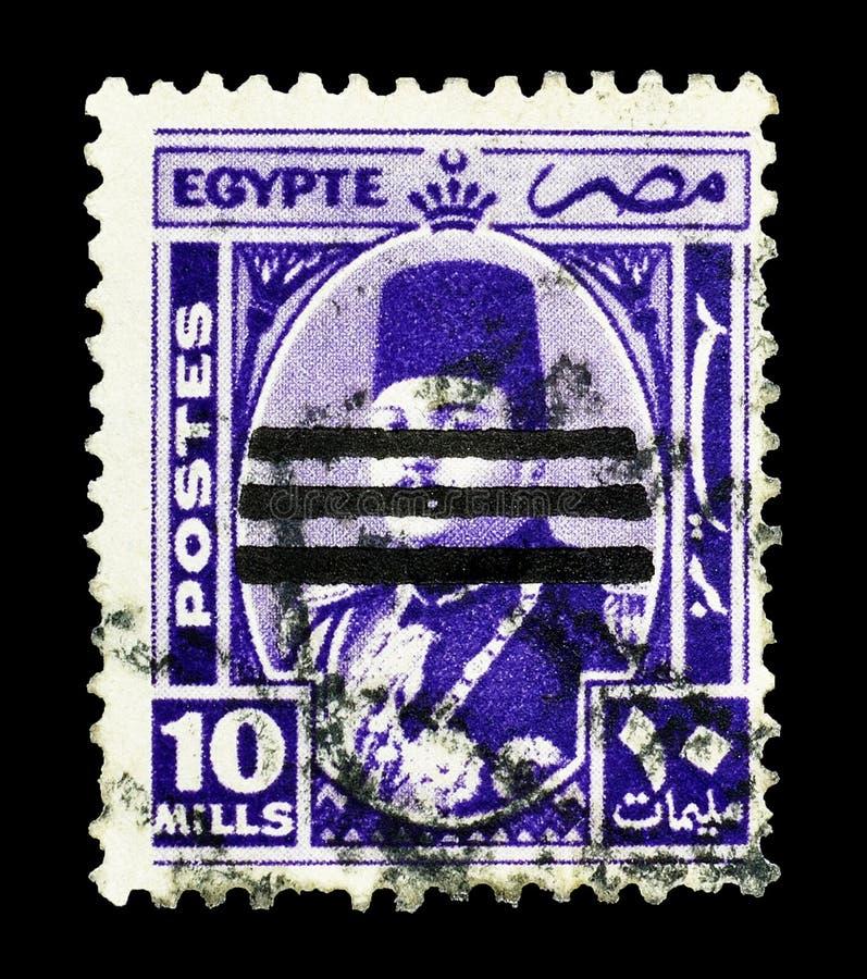 Selo postal cancelado impresso por Egito fotos de stock royalty free