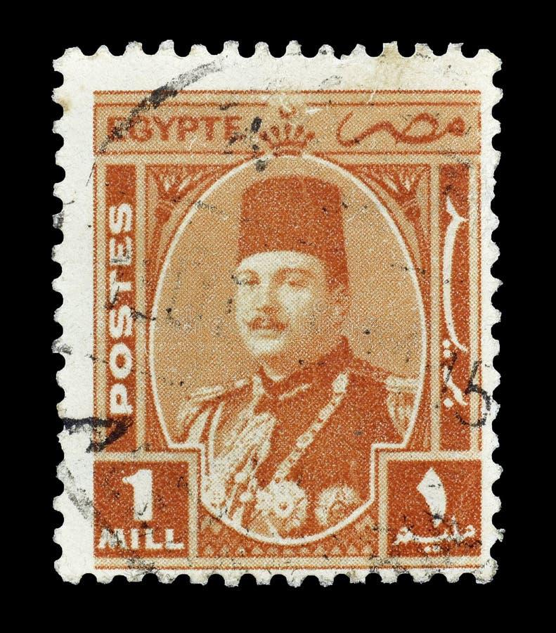 Selo postal cancelado impresso por Egito fotografia de stock royalty free