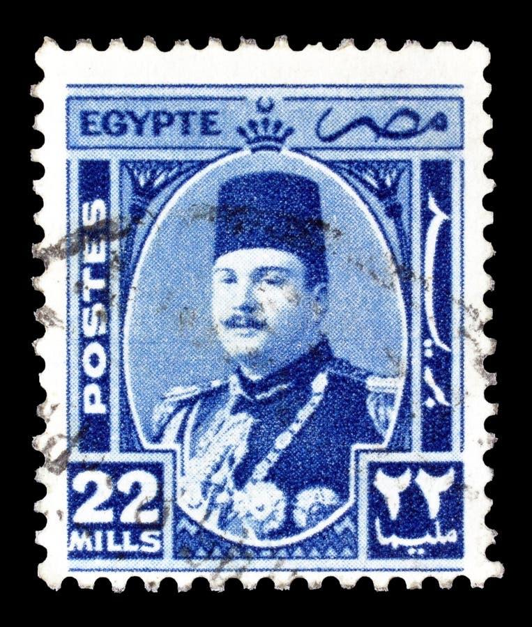 Selo postal cancelado impresso por Egito imagens de stock royalty free