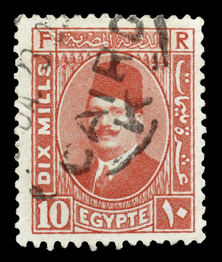 Selo postal cancelado impresso por Egito imagem de stock royalty free