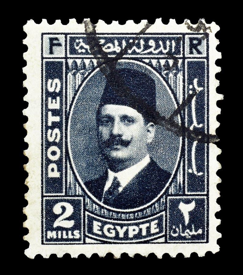 Selo postal cancelado impresso por Egito foto de stock royalty free