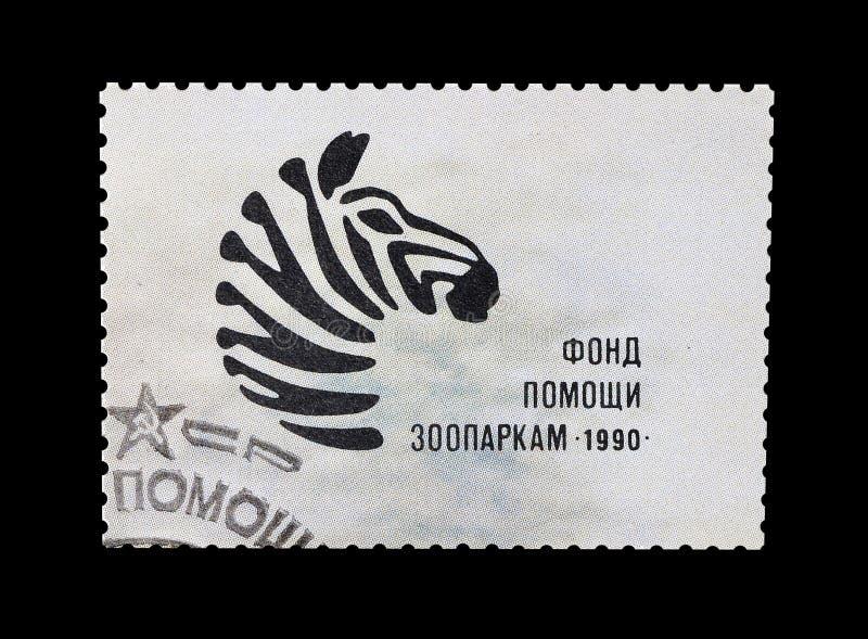 Selo postal cancelado impresso por União Soviética imagens de stock royalty free