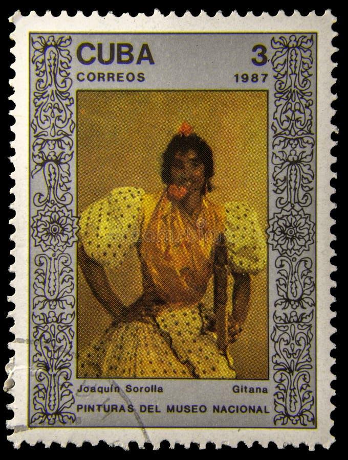 Selo postal da imagem fotografia de stock