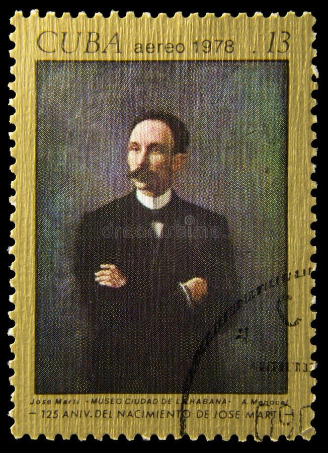 Selo postal da imagem - Jose Marti - A Menocal fotos de stock royalty free