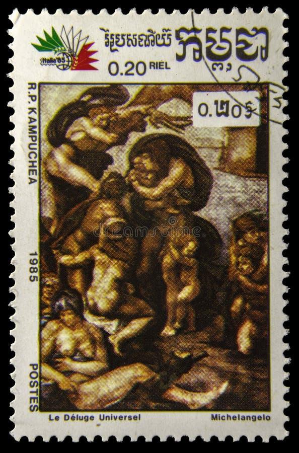 Selo postal da imagem fotos de stock