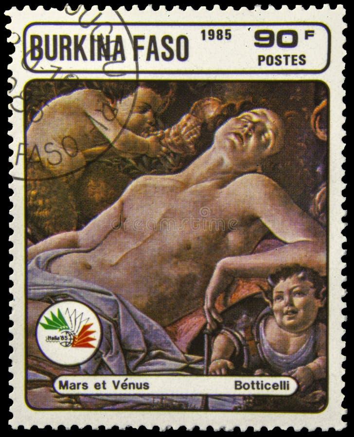 Selo postal de Burkino Faso imagem de stock