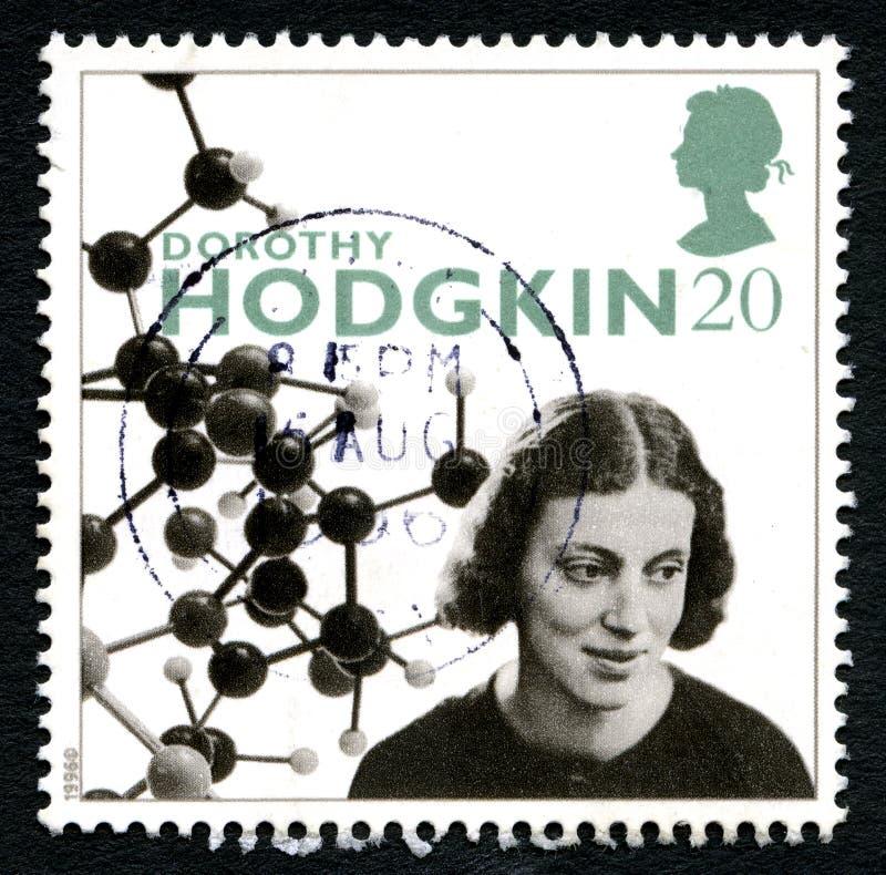 Selo postal de Dorothy Hodgkin Reino Unido imagem de stock