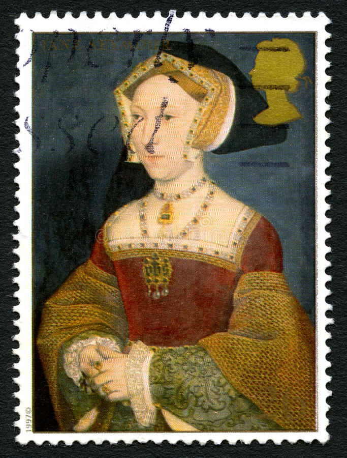 Selo postal de Jane Seymour Reino Unido fotografia de stock