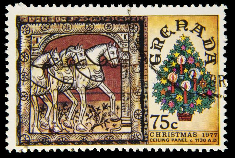 Selo postal do Natal imagem de stock royalty free