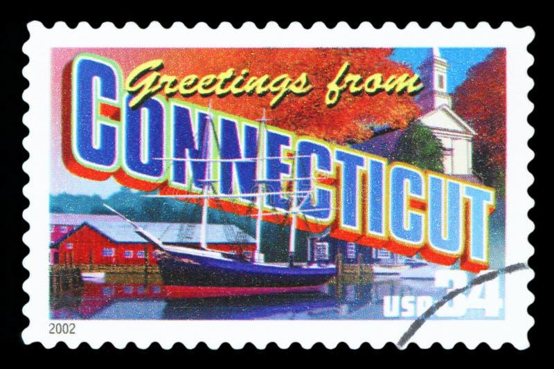 Selo postal dos E.U. fotografia de stock