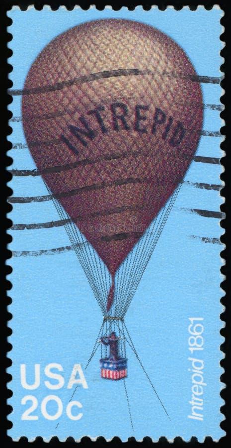 Selo postal dos E.U. - balão imagem de stock royalty free