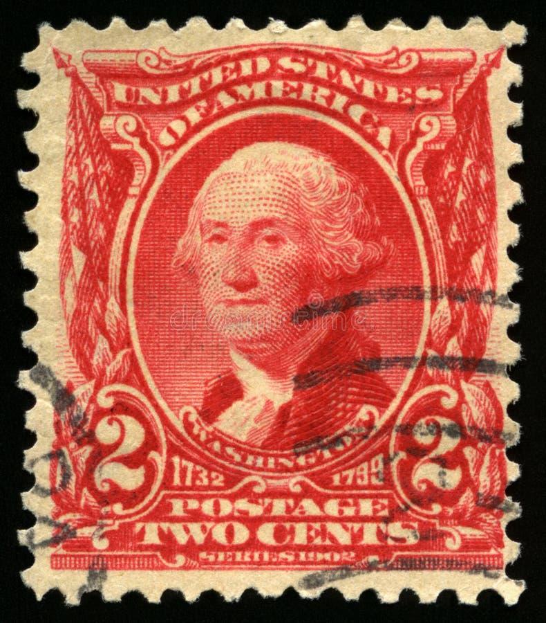 Selo postal dos E.U. do vintage do presidente Washington 1902 imagens de stock royalty free