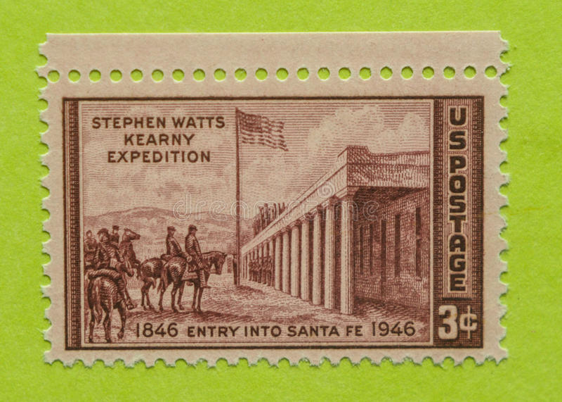 Selo postal dos EUA do vintage foto de stock