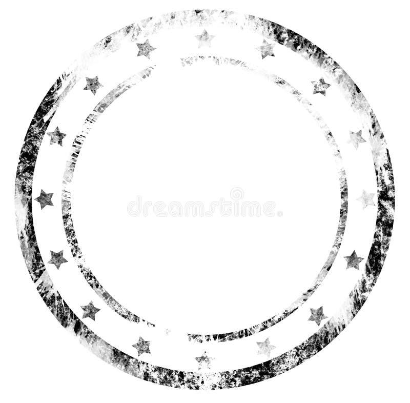 Selo postal em branco sujo em um fundo branco ilustração stock