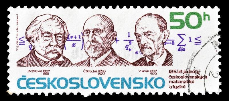 Selo postal impresso por Checoslováquia fotos de stock royalty free