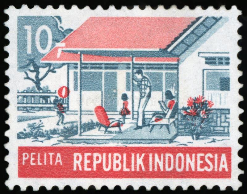 Selo postal - Indonésia fotos de stock
