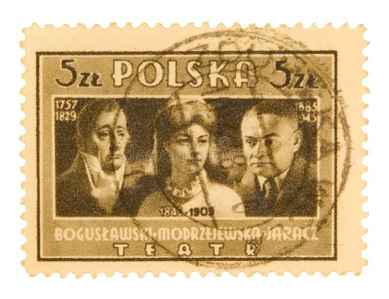 Selo postal polonês do vintage imagem de stock royalty free