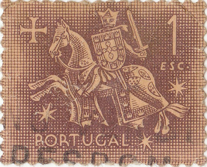 Selo postal português velho imagens de stock royalty free
