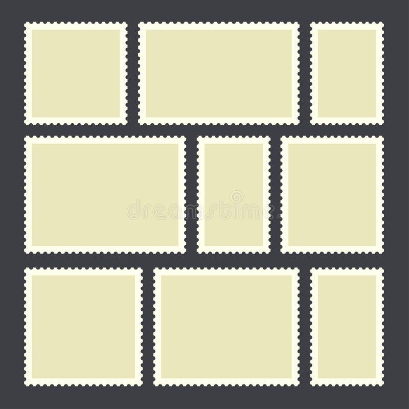 Selo postal vazio ilustração do vetor