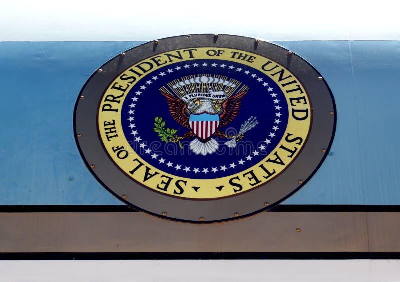 Selo presidencial em Air Force One foto de stock