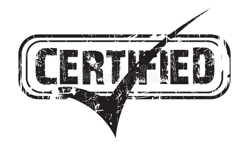 Selo preto certificado vetor ilustração do vetor