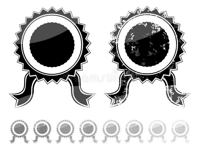 Selo preto vazio ilustração stock