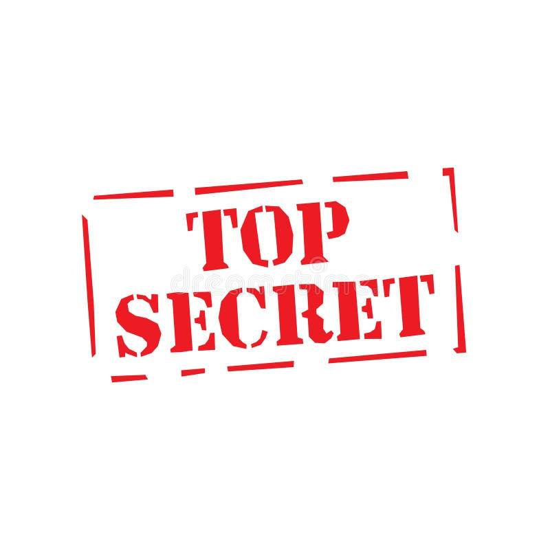 Selo quadrado vermelho extremamente secreto do grunge no branco Selo do segredo máximo Extremamente secreto Sinal do segredo máxi ilustração do vetor