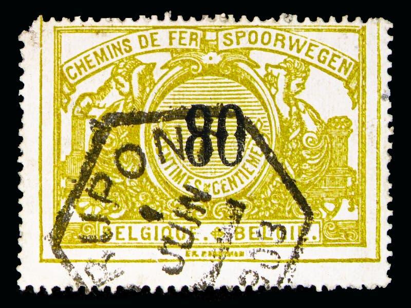 Selo Railway: Numeral preto com texto bilíngue, serie, cerca de 1 fotos de stock
