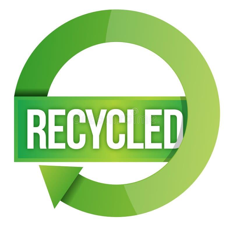 Selo Recicl Verde Fotografia de Stock Royalty Free