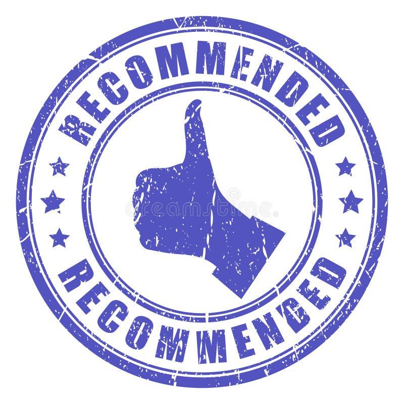 Selo recomendado vetor ilustração do vetor