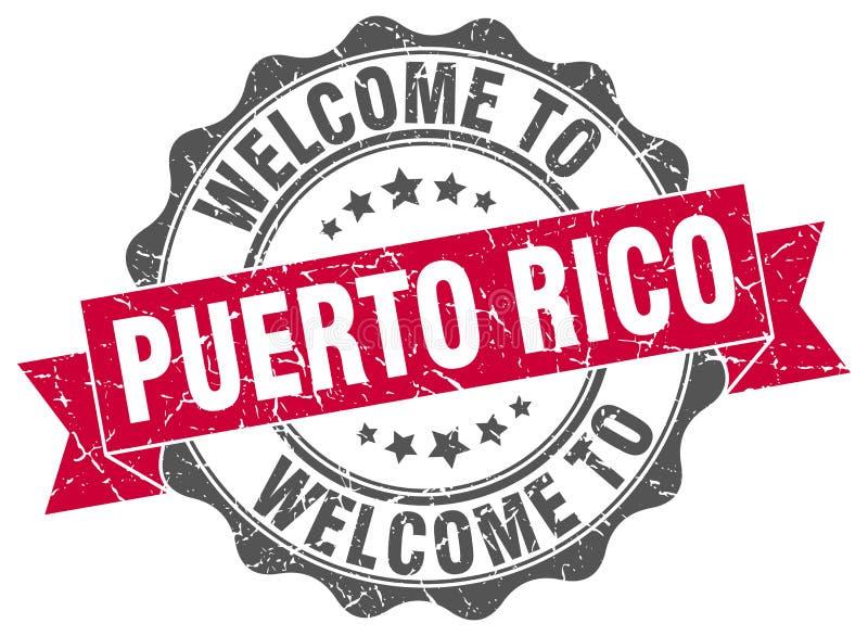 Selo redondo de Porto Rico ilustração stock
