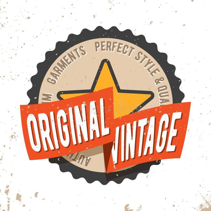 Selo redondo do selo do vintage original ilustração stock
