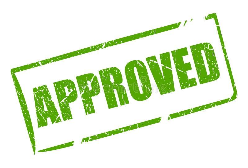 Selo retangular aprovado verde ilustração royalty free