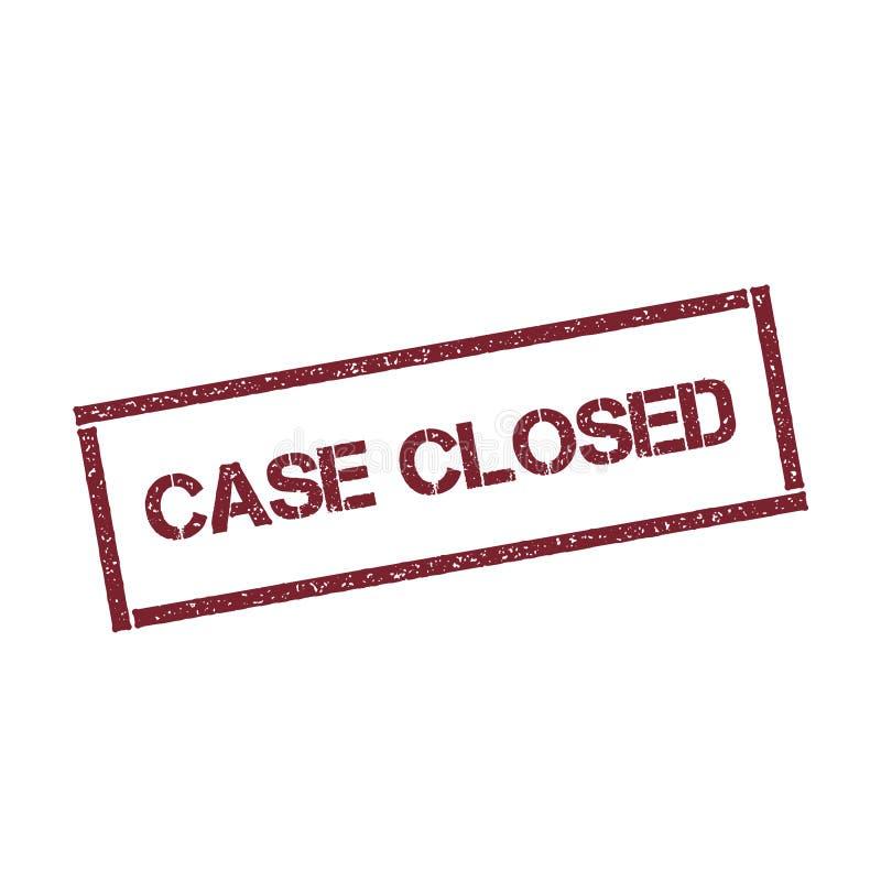 Selo retangular fechado do caso ilustração do vetor