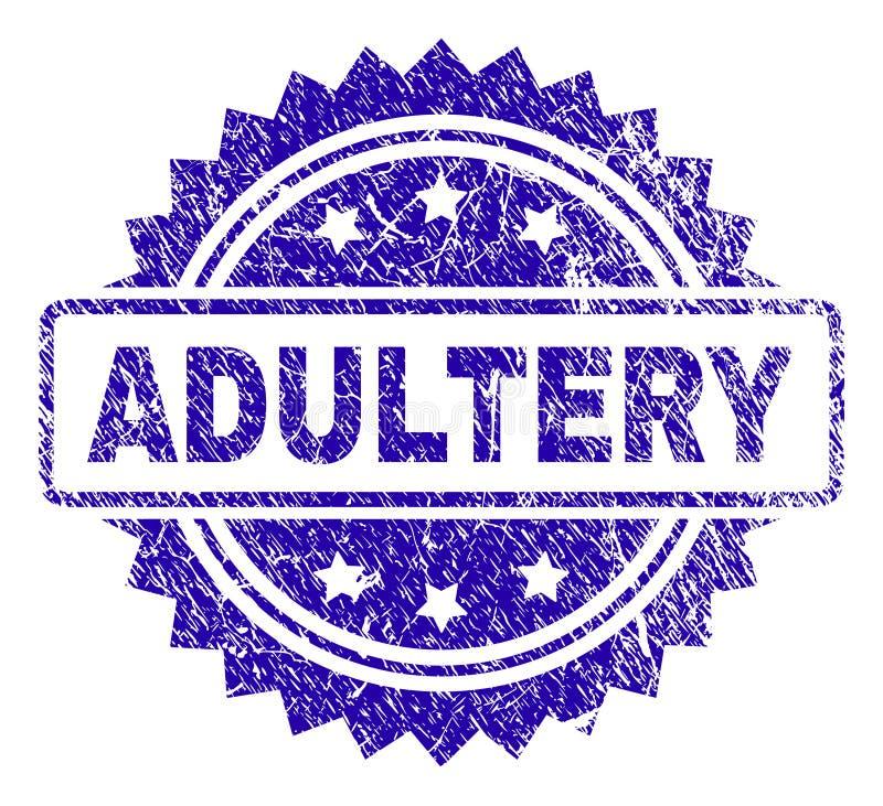 Selo riscado do selo do ADULTÈRIO ilustração royalty free