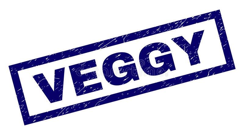 Selo riscado retângulo de VEGGY ilustração stock