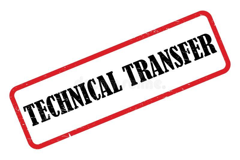 Selo técnico de transferência ilustração do vetor