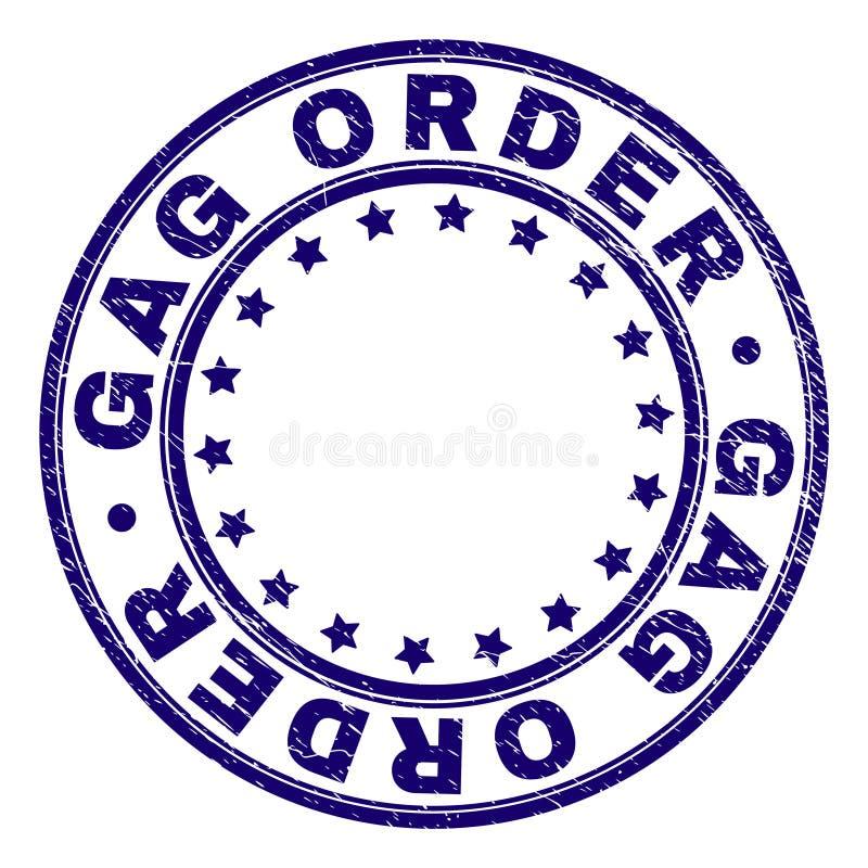 Selo Textured do selo do círculo da ORDEM de MORDAÇA do Grunge ilustração do vetor