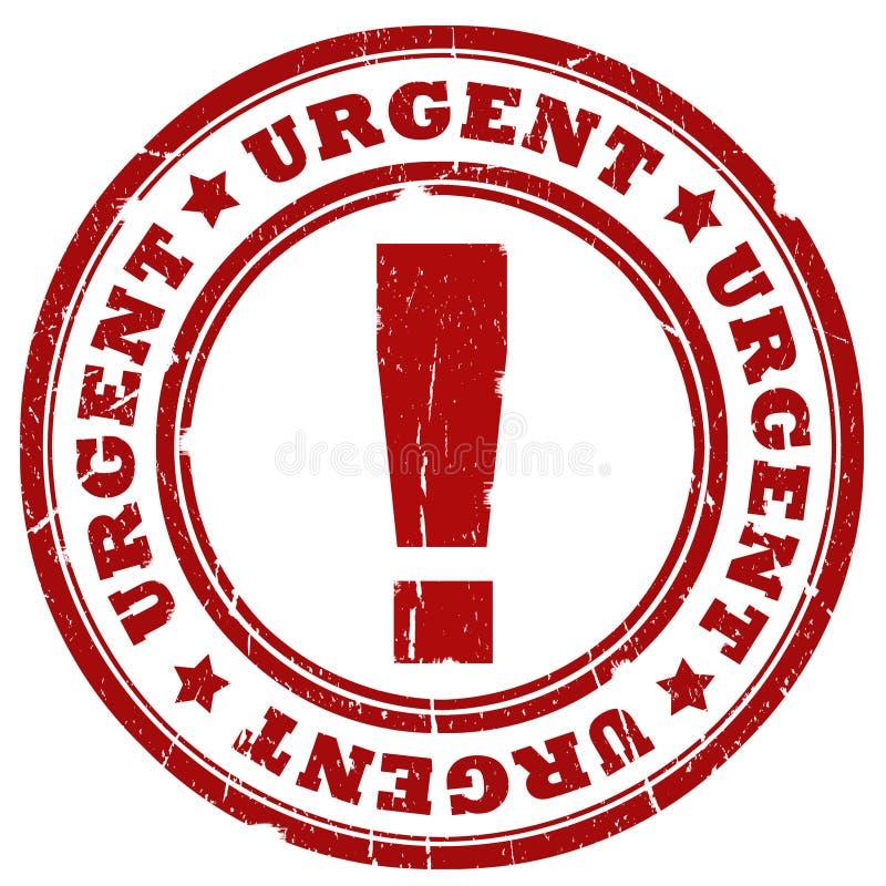 Selo urgente da tinta ilustração stock