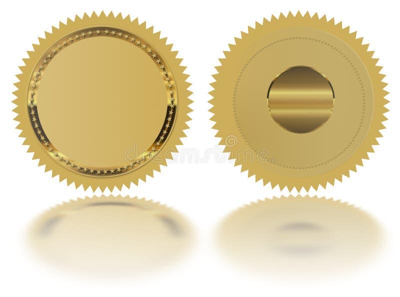 Selo vazio do ouro ilustração royalty free