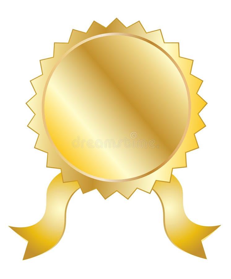 Selo vazio do ouro ilustração stock