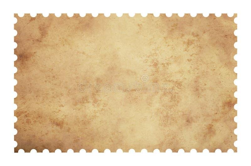 Selo velho do papel do porte postal da placa do grunge no branco ilustração stock