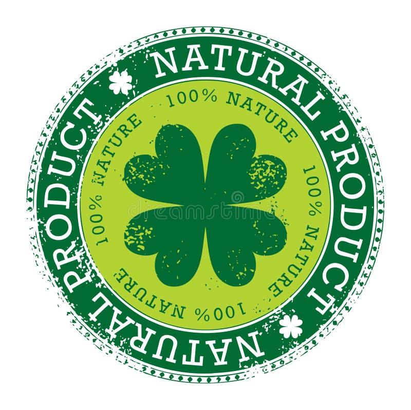 Selo verde ilustração stock