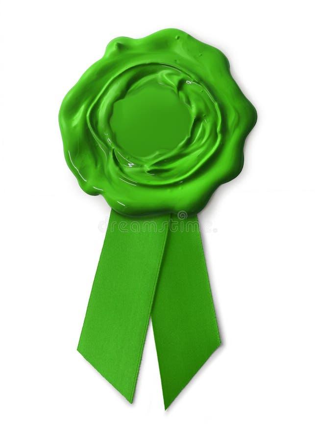 Selo verde da garantia do eco imagens de stock royalty free