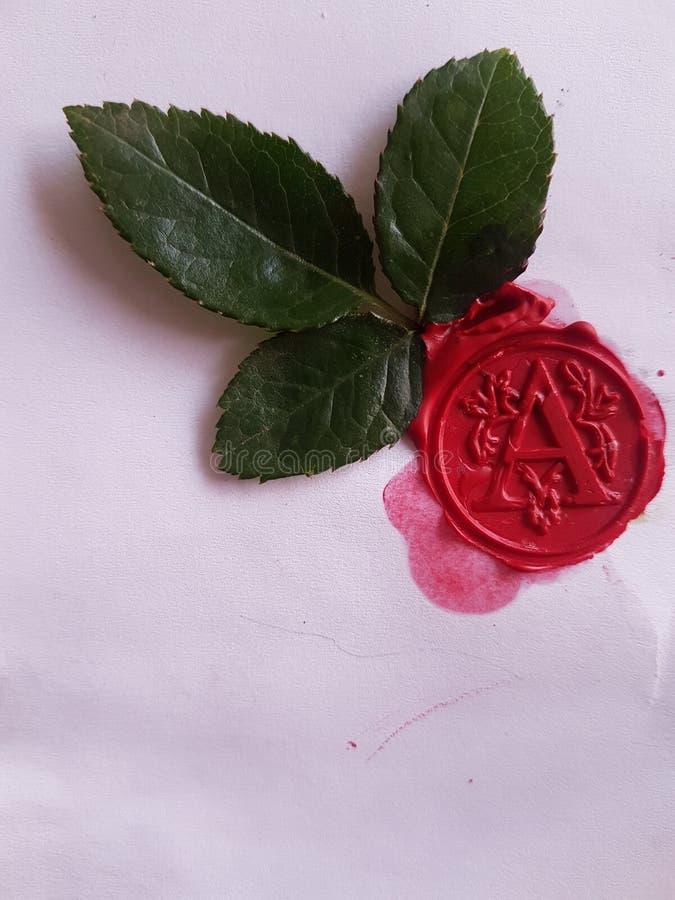 Selo vermelho fotografia de stock royalty free