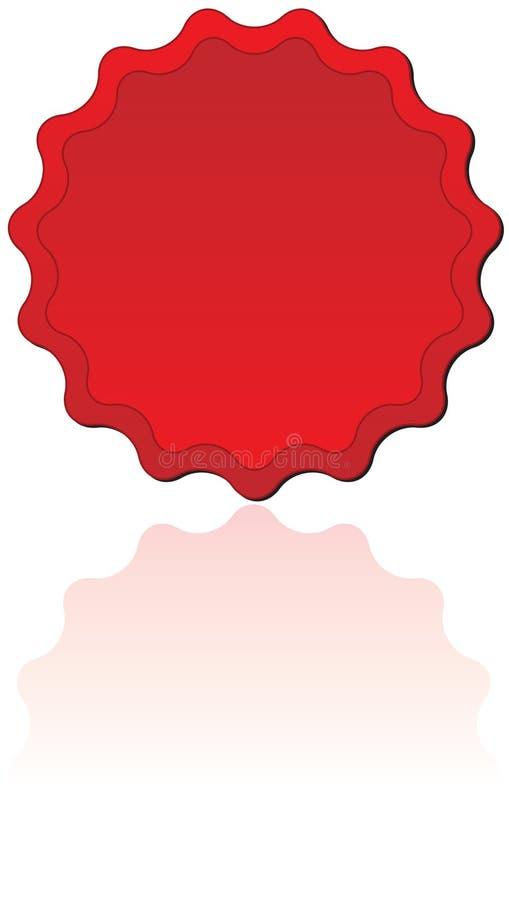 Selo vermelho ilustração royalty free